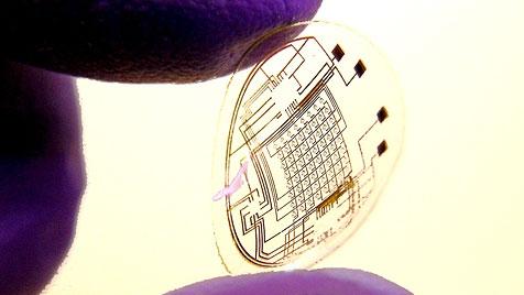 Forscher entwickeln elektronische Kontaktlinse (Bild: University of Washington)