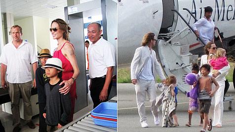 Pax Jolie-Pitt durfte seine Oma in Vietnam treffen (Bild: AFP)