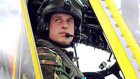 Prinz William rettete zwei Schiffbrüchige (Bild: AP)