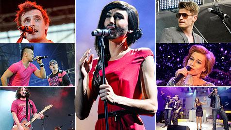 Song Contest 2012: Das sind die ersten fixen Kandidaten (Bild: ORF, krone.at-Grafik)