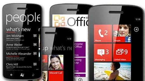 Windows Phone 7 als Demo für iPhone und Android (Bild: Microsoft)