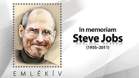 Ungarische Post ehrt Steve Jobs mit Gedenkmarke (Bild: Magyar Posta)