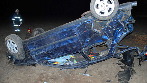 26-Jähriger rast mit Pkw über Böschung - schwer verletzt (Bild: Feuerwehr Schrems)