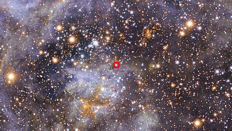 Bislang schnellster rotierender Stern entdeckt (Bild: ESO/M.-R. Cioni/VISTA Magellanic Cloud Survey)