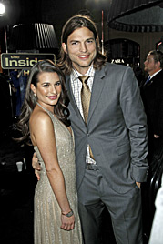 Neu-Single Ashton Kutcher flirtet heftig mit Lea Michele (Bild: AP)