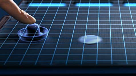 Von Seide bis Fels: Screen lässt Nutzer Oberflächen fühlen (Bild: Senseg)