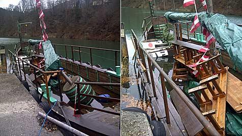Vandalen wollten in OÖ Wikingerschiff versenken (Bild: Gudrun Aigner Ennstalfun.at)