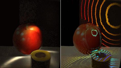 Neuartige Kamera zeigt Lichtteilchen in Bewegung (Bild: MIT Media Lab)