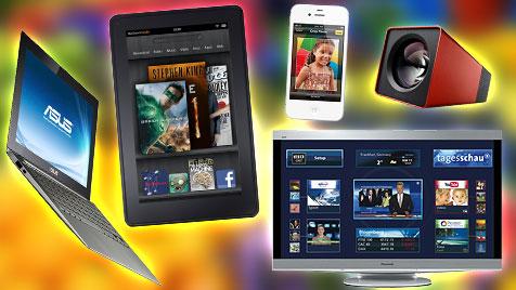 Diese Technik-Trends werden 2012 beherrschen (Bild: Hersteller, krone.at-Grafik)