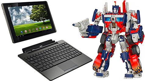 """Hasbro verklagt Asus wegen """"Tranformer""""-Tablet (Bild: AP)"""