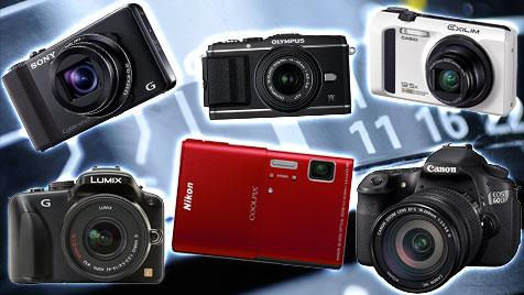 40 Digitalkameras für Einsteiger und Profis im Test (Bild: thinkstockphotos.de, Hersteller)