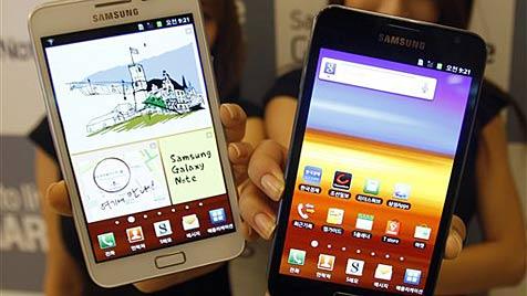 Galaxy Note mit noch größerem Screen kommt (Bild: AP)