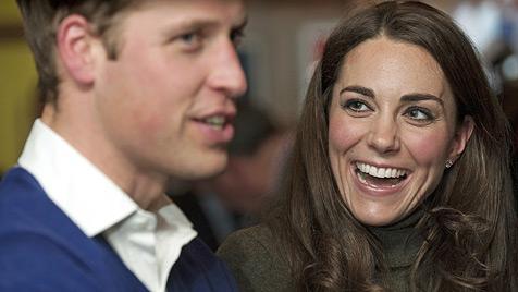 Kate und William feierten Silvester im Luxus-Zelt (Bild: AP)