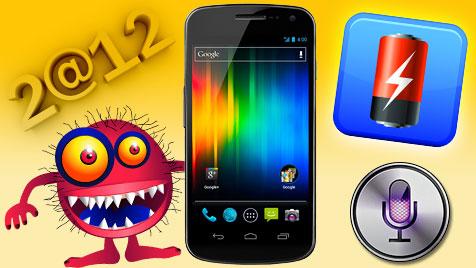 Was man 2012 vom Handy erwarten darf - und was nicht (Bild: thinkstockphotos.de, Samsung, Apple, krone.at-Grafik)