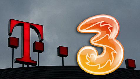 """T-Mobile und """"3"""" teilen sich künftig ihre Netze (Bild: dapd, 3)"""