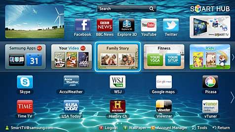 Steuerung mittels Geste und Sprache erobert TV-Geräte (Bild: Samsung)