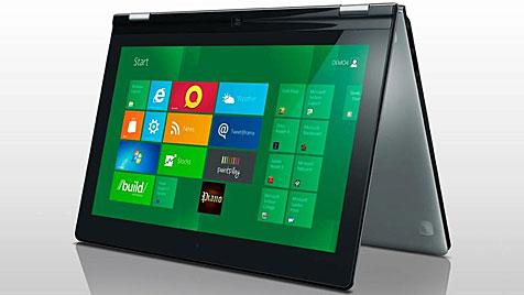 Lenovo-Ultrabook lässt sich falten - und wird zum Tablet (Bild: Lenovo)