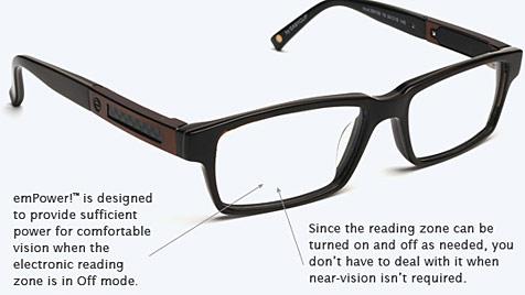 Elektronische Brille passt Sehbereich automatisch an (Bild: Lifeactivated.com)