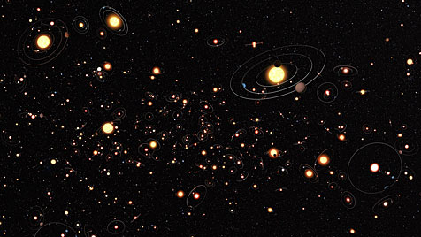 Jeden Stern unserer Galaxie umkreist im Schnitt ein Planet (Bild: ESO/M. Kornmesser)