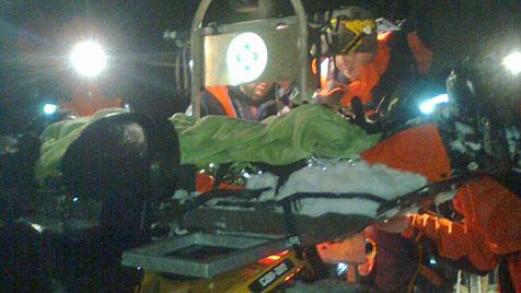 Mann in Lederhosen saß vier Stunden auf Berg fest (Bild: Bergrettung/Hettegger)