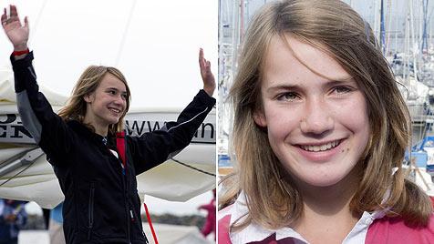 Segelmädchen Laura Dekker holt sich den Solorekord (Bild: AFP)