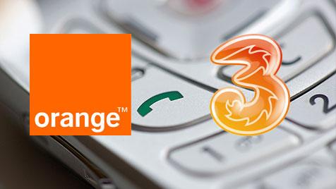 Hutchison meldet Übernahme von Orange bei EU an (Bild: thinkstockphotos.de, orange.at, drei.at)