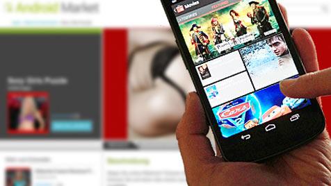 Werbung ist größter Stromfresser bei Gratis-Apps (Bild: AP, Google)