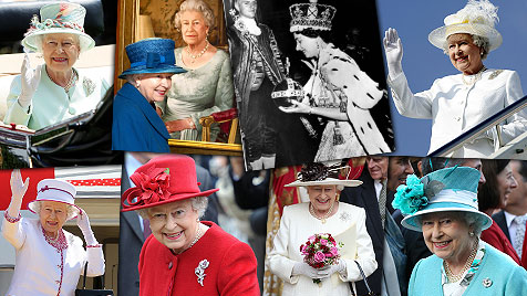 Elizabeth II. feiert ihr 60-jähriges Thronjubiläum (Bild: AP, AFP, EPA)