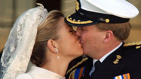 Willem-Alexander und Maxima feiern 10. Hochzeitstag (Bild: EPA)