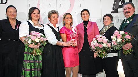 Biedermann macht sich für Brustkrebs-Vorsorge stark (Bild: A1/APA/Schedl)
