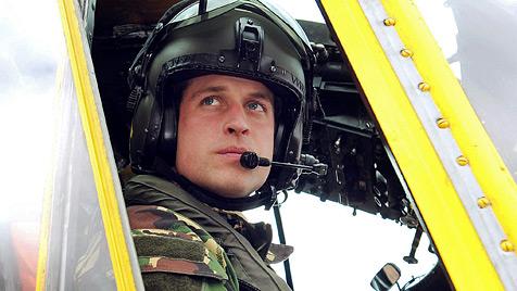 Prinz William trat Dienst auf den Falklandinseln an (Bild: AP)