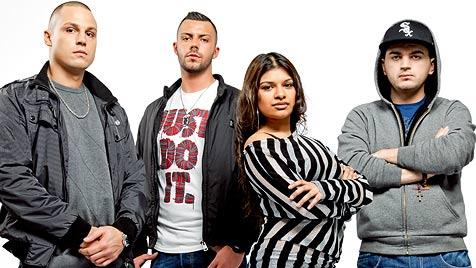 Sharon, Dragan, Benjamin und Marko sind 3punkt5 (Bild: ORF/Hans Leitner)