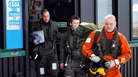 Prinz William trat Dienst auf den Falklandinseln an (Bild: EPA)
