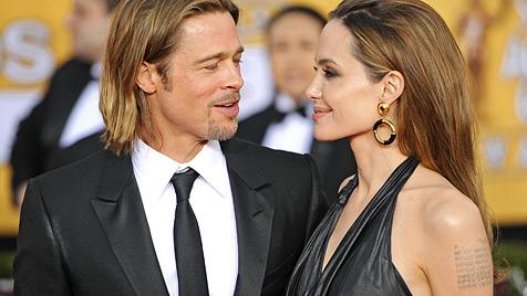 """Brad Pitt: """"Angelina Jolie ist immer noch ein b�ses M�dchen"""" (Bild: AP)"""
