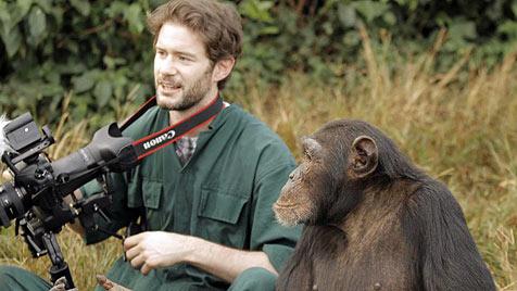 """Man kann in den Gesichtern der Schimpansen lesen"" (Bild: Stuart Jolley, fair soul)"