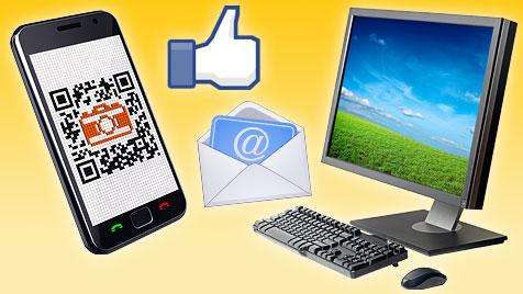 Die neuesten Abzock-Tricks auf PC und Smartphone (Bild: thinkstockphotos.de, facebook.com, krone.at-Grafik)