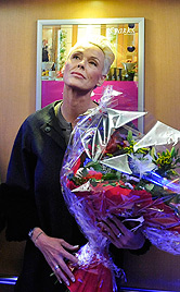 """Brigitte Nielsen lacht: """"Herr Lügner ist so nett zu mir"""" (Bild: APA/HERBERT NEUBAUER)"""