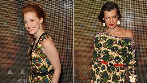Stars wie Milla zeigen sich in den Marni-H&M-Kleidern (Bild: H&M)