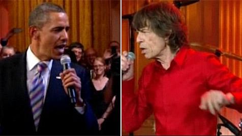 Barack Obama singt mit Musik-Legenden im Weißen Haus (Bild: APA)