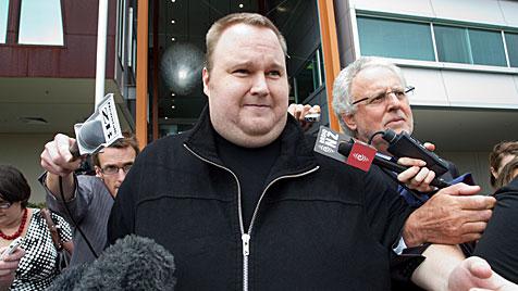 MegaUpload-Gr�nder aus U-Haft entlassen (Bild: EPA)