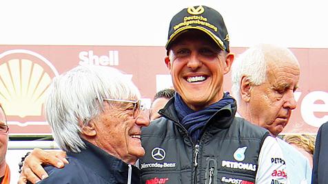"""Ecclestone """"würde Schumacher gerne bei Red Bull sehen"""" (Bild: EPA)"""