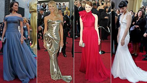 Die modischen Tops und Flops bei der Oscar-Gala (Bild: AP)