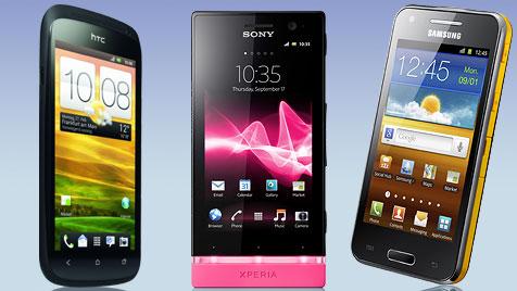 Die Trends und Neuheiten der Mobilfunk-Messe (Bild: htc, Sony, Samsung, krone.at-Grafik)