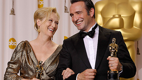 Hauptrollen-Oscars für Meryl Streep und Jean Dujardin (Bild: AP)