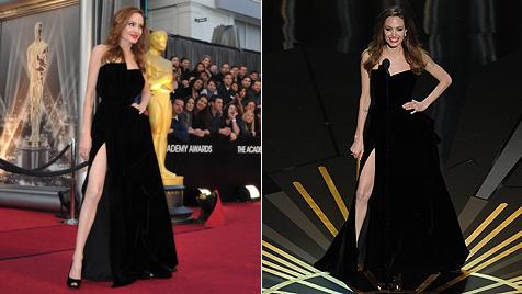 Schau her, Angie! So trägt man ein Kleid mit Schlitz! (Bild: AP, AFP)