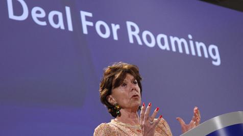 Schlagabtausch um Senkung der Roaming-Gebühren (Bild: AP)