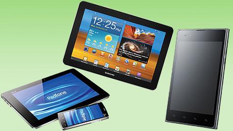 Smartphone und Tablet wachsen zusammen (Bild: Samsung, LG, Asus, krone.at-Grafik)