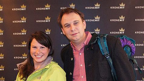 Dani Linzer und Meinrad Knapp auf Wanderschaft