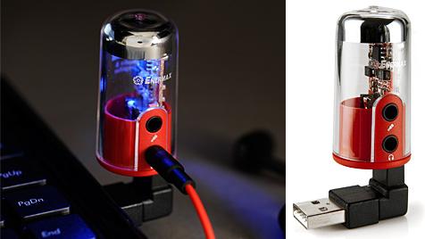 USB-Verstärker soll PCs zu besserem Sound verhelfen (Bild: Enermax, krone.at-Grafik)