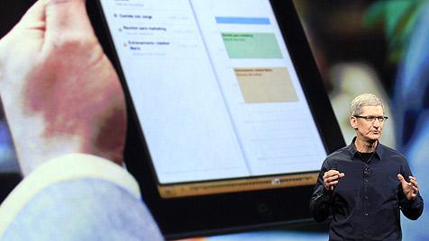 Apple stellt neues iPad mit Retina-Display und LTE vor (Bild: Foto:Jeff Chiu/AP/dapd)